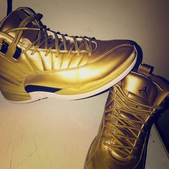 Jordan Shoes   12s Pinnacle Gold Size